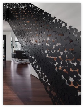 garde corps m tallique d coup au laser ruban pictures to pin on pinterest. Black Bedroom Furniture Sets. Home Design Ideas